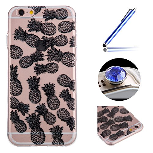 6c82702f274b1e Etsue für iPhone 6 Plus/6S Plus TPU Silikon Schutz Handy Hülle Muster, Henna