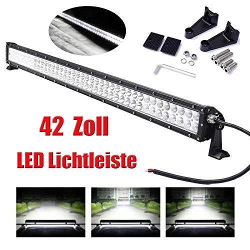 LED Light Bar wasserdicht Flut-Punkt-Combo Strahl weg Straßen-Licht-Nebel-Licht Fernlicht 42-Zoll-Light Bar 6000K Super helles weißes Licht für SUV LKW-Boot -