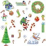 Best RoomMates Décorations de Noël - RoomMates Merry Christmas Stickers muraux repositionnables pour enfant Review