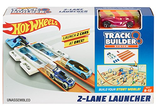 Hot Wheels Mattel DJD68 Track Builder Basis-Set Doppelspur-Starter