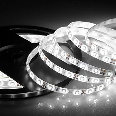 Forepin® IP65 Étanche LED Strip Bande SMD 3528 60LEDs/m Flexible Doux DIY Lampe Ruban Lumineux Strip Light Blanc - 3 Mètre