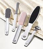 Anti-Hornhaut Fußpflege-Set (Hornhauthobel mit 4 Klingen, 2 Hornhautraspel, Fußfeile, Bimsstein)