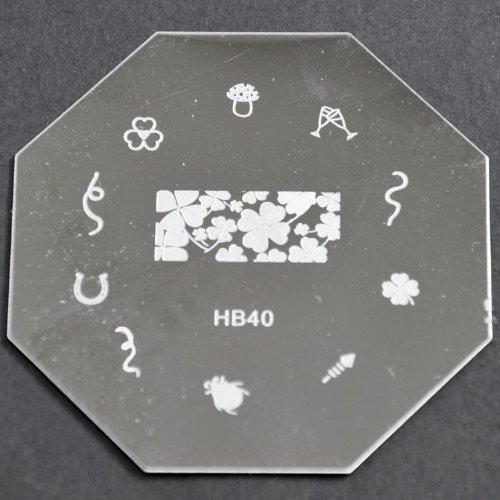 Nail Art emboutissage des tôles - HB40 CODE : HB40-plaque