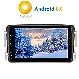 XISEDO Android 8.0 in-Dash Autoradio 8 Pouces Voiture Radio à Écran Tactile 8-Core RAM 4G ROM 32G Car Radio Système de Navigation GPS pour Mercedes-Benz CLK W209/ C Class W203/ Viano/Vito/ Vaneo