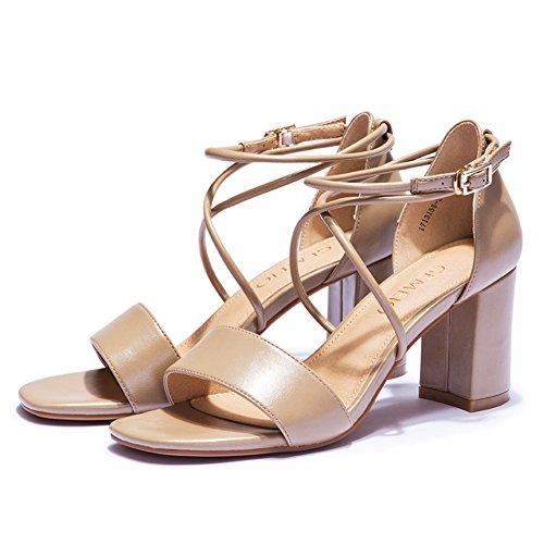 Spesso con sandali romani in estate/Tacchi alti aperti a cinghia B