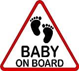 Aufkleber Baby on Board dreieckig 115 x 130 mm ~~~~~ schneller Versand innerhalb 24 Stunden ~~~~~