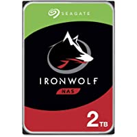 Seagate IronWolf, NAS interne Festplatte 2 TB HDD, 3.5 Zoll, 5900 U/Min, CMR, 64 MB Cache, SATA 6 GB/s, silber, inkl. 3…