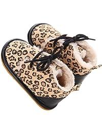 Estamico - botines de bebé de suela de goma de invierno