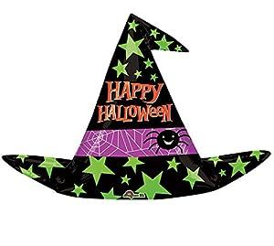 amscan International 3384101 - Globos de Papel de Aluminio (93 x 68 cm), diseño de Sombrero de Bruja de Halloween
