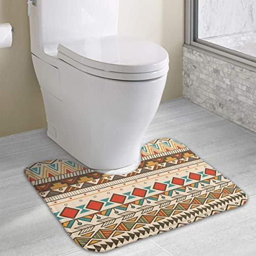 aments Pattern Dirt Bike Motocross U-Shaped Toilet Floor Rug Non-Slip Toilet Carpets Bathroom Carpet ()
