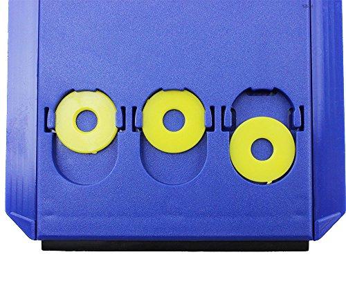 Lot de 2 disques de stationnement pour zone bleue avec 3 jetons de Caddy, Européen en plastique Bleu, M&H-24