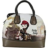 Betty Boop Moonlight Train Hand Bag Shoulder Travel Gift Idea Beige UK