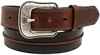 Ariat Western Belt Mens 1 1//2 Classic Beveled Stripe Black A10356107