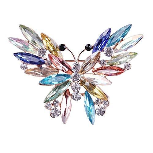 Faliya Beaytiful Schmetterlingsbrosche Pins Legierung Strass Kristall Broschen Schals Schal Clip Lady Schmuck Ornament -