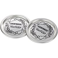 Leifheit Classic Wide Mouth Canning Lids, Silver, 12-Pack by Leifheit