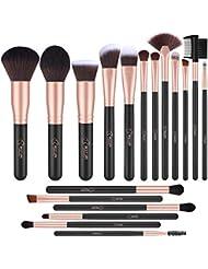 Lot de 18 pinceaux de maquillage professionnels Bestope, pinceaux de maquillage synthétiques de qualité supérieure pour fond de teint, blush, correcteurs pour les yeux