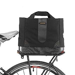 ibera 2 in 1 bike pakrak k hltasche trunk bag fahrrad. Black Bedroom Furniture Sets. Home Design Ideas