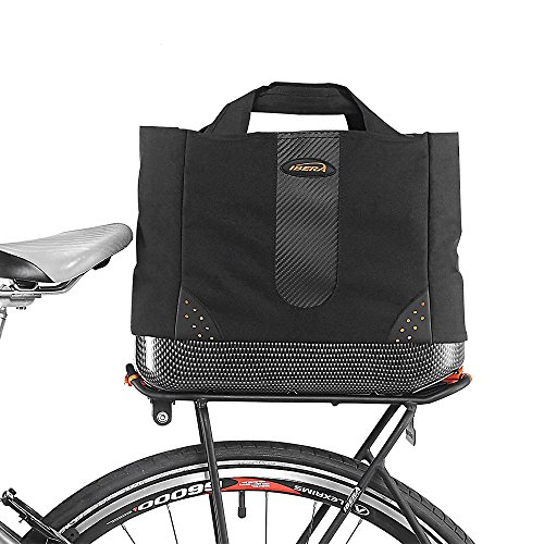 fahrrad einkaufstasche Ibera 2in 1Bike PakRak Kühltasche Trunk Bag, Fahrrad Einkaufstasche für Lebensmittels, Hand/Schultertasche