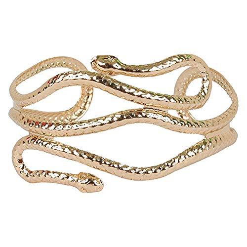 ✎¿Por qué elegir el brazalete con forma de serpiente PPX?    ✔Cuerpo de serpiente en espiral con cabeza, vivo y lleno de personalidad.  ✔Diseño único por multinivel, estilo punk fashion, llamativo especial.  ✔Fabricado en aleación de alta calidad,...