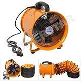 Tragbarer Ventilator Industrial Air Axial Metall Gebläse Commercial Auspuff Workshop Abluftventilator (30,5cm Fan)