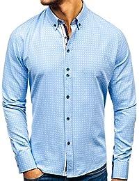 d38f4b31ebf09d BOLF Herren Elegant Hemd Langarm Button-Down Slim Fit Business Style 2B2