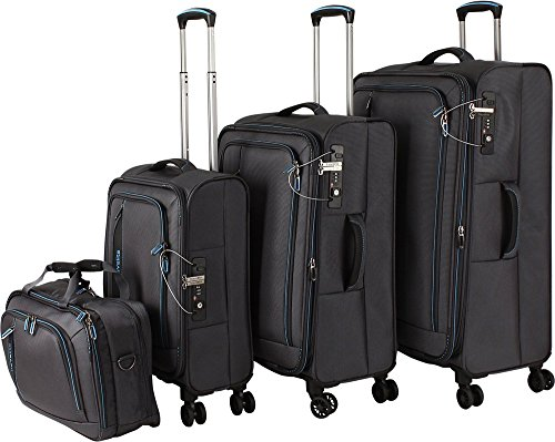 Travelite 'Crosslite' 4 pcs Koffer-Set, 77 cm, 102 liters, Anthrazit, 89540-04