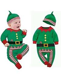Xinantime - Trajes de ropa de bebé Boy Girl Kids Romper Hat Cap Set regalo  de fe7a1e26a5cd