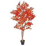 Homescapes érable rouge artificiel très feuilli en pot 160 cm