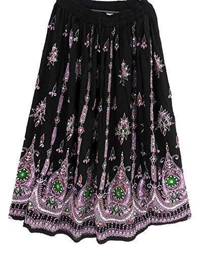 Bunte Womans Damen Indianer Boho Hippie Zigeuner Sequin Sommer Sommerkleid Maxi Bauchtanz Rock - Indian Belly Dancer Kostüm