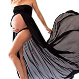 Modern Pregnant Women Photography Props, Vestido de maternidad Split Vista delantera foto Shoot Dress, Faldas fotográficas de maternidad