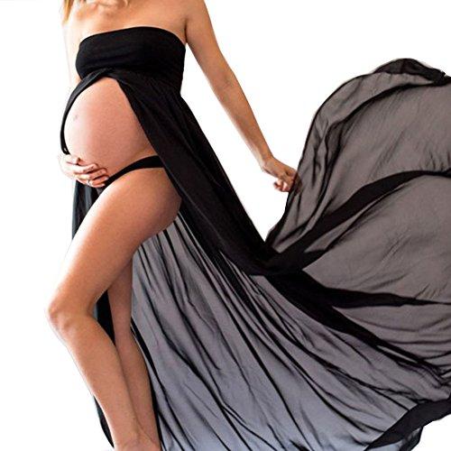 sexy-schwangere-frauen-fotografie-stutzen-maternity-gown-split-front-foto-shoot-kleid-maternity-phot