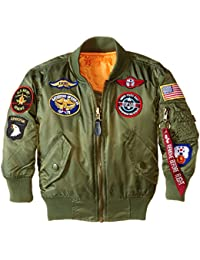 Alpha Industries Little Boys' MA-1 Bomber Jacket with Patches