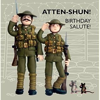 Holy Mackerel Greeting Card - Atten-shun Birthday Greetings card