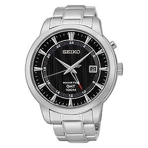 Seiko - SUN033P1 - Automatique - Montre Homme - Automatique Analogique - Cadran Noir - Bracelet Acier Gris
