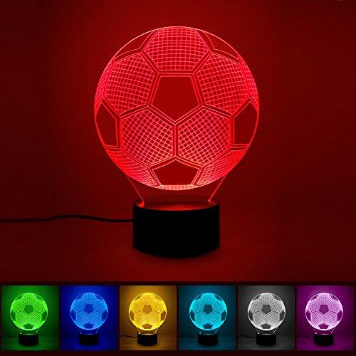 3d illusione LED lampada, ink-topoint Calcio Luce Notturna Lampada Decorativa Lampada Da Tavolo Touch illuminazione lampada da tavolo lampada da tavolo decorativa multicolore decorazione per casa camera da letto per bambini compleanno Coppa del Mondo