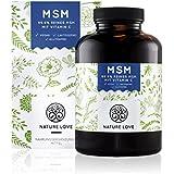 MSM Kapseln - 365 Stück im 6 Monatsvorrat. 1200 mg MSM (Methylsulphonylmethan) Pulver mit Vitamin C. Organischer Schwefel, frei von Zusätzen wie Gelatine oder Magnesiumstearat. Hochdosiert, vegan und hergestellt in Deutschland