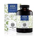 MSM Kapseln - 365 Stück im 6 Monatsvorrat. 1200 mg MSM (Methylsulphonylmethan) Pulver pro Tagesdosis mit Vitamin C. Laborgeprüft. Organischer Schwefel, frei von Zusätzen wie Gelatine oder Magnesiumstearat. Hochdosiert, vegan und hergestellt in Deutschland