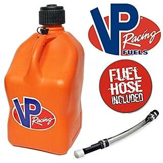 VP Racing 20 Litre Square Fuel Jug With Deluxe Filler Hose (Orange)