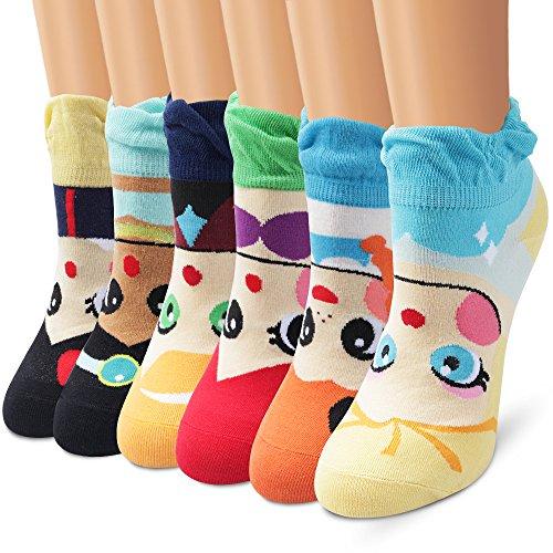 Ambielly calcetines de algodón calcetines térmicos Adulto Unisex Calcetines (6 sirena)