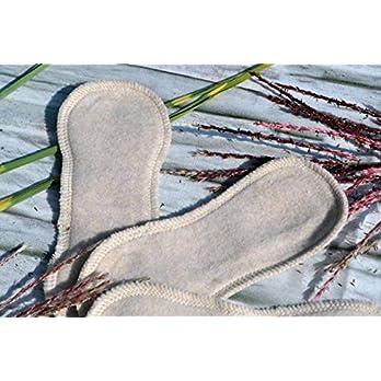 Slipeinlagen aus Bio-Baumwolle, waschbar, wiederverwendbar, 3 Stück, dünn, Zero Waste, Hygiene, Frau, weich, flauschig, beige natur creme, einlagig