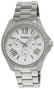 Reloj Fossil AM4481 de cuarzo para mujer con correa de acero inoxidable, color plateado de Fossil