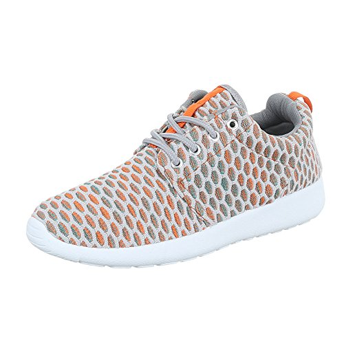 Ital-Design, Sneaker donna Orange Grau SW15715