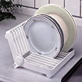 #4: PETRICE Folding Plastic Kitchen Dish Rack Stand Plate Holder (Colour May Vary).