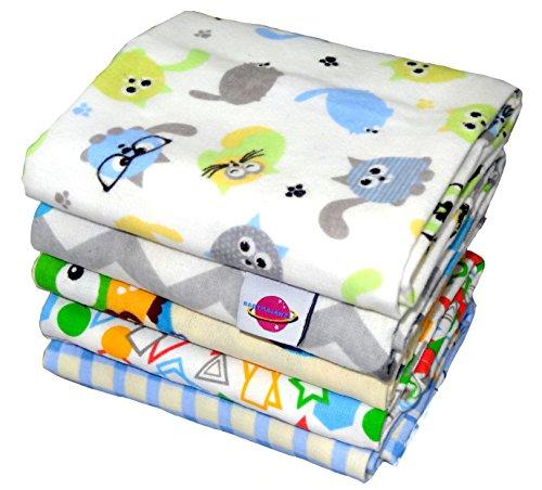 Babymajawelt Molton Flanellwindeln 70/80 - 5er Pack Junge-weich und kuschelig-12845