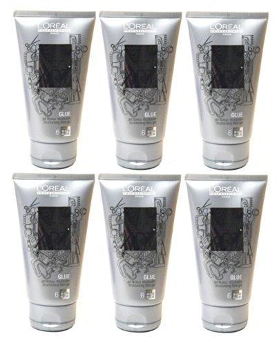 Loreal Fix Glue Struktur-Gel 6 x 150 ml Tecni.art Styling für ultra starken Halt Neue Serie