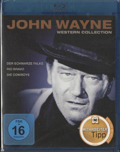 Bild von John Wayne Western Collection (Der schwarze Falke, Rio Bravo, Die Cowboys) [Blu-ray]