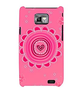 HiFi Designer Phone Back Case Cover Samsung Galaxy S2 I9100 :: Samsung I9100 Galaxy S Ii ( Pink Heart Pattern Design )