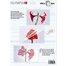 Olympia 9165 Laminierfolienset (40x Visitenkartenfolie, 20x DIN A4, 20x DIN A5, 20x DIN A6) 100er Pack