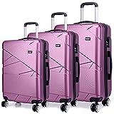 Best Suitcases Sets - Kono Designer Light Weight Hardshell 4 spinner wheels Review