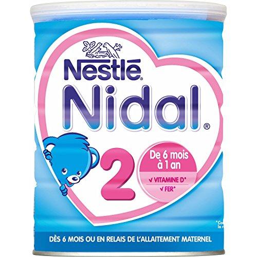 Nestlé Nidal 2 Lait infantile 2ème âge en poudre dès 6 mois 800g - Lot de 3